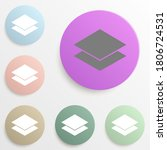layers badge color set. simple...