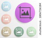 picture badge color set. simple ...