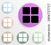 four squares badge color set....