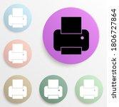 printer badge color set. simple ...