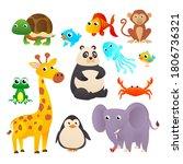 collection wild animals....   Shutterstock . vector #1806736321
