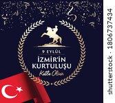 september 9  salvation of izmir.... | Shutterstock .eps vector #1806737434