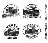 set of bus travel company... | Shutterstock .eps vector #1806744004