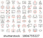 vector set of linear icons...   Shutterstock .eps vector #1806755227