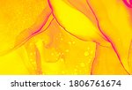 Juicy Watercolor. Gold Swirl...