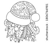 adult coloring book page a... | Shutterstock .eps vector #1806766981