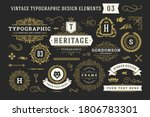vintage typographic decorative... | Shutterstock .eps vector #1806783301