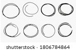 hand drawn circle line sketch... | Shutterstock .eps vector #1806784864