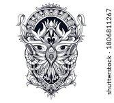 Tattoo And T Shirt Design Blac...