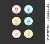 circle web design button...