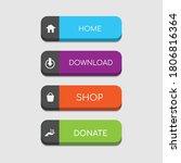 colorful web design button...   Shutterstock .eps vector #1806816364