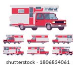 rv camper van car  red... | Shutterstock .eps vector #1806834061