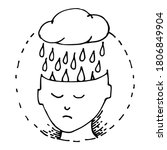 mental health. stress.... | Shutterstock .eps vector #1806849904