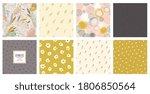 trendy seamless patterns set.... | Shutterstock .eps vector #1806850564