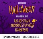 halloween font. typography... | Shutterstock .eps vector #1806881311