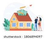 happy couple investing money in ... | Shutterstock .eps vector #1806894097