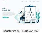 eye check up landing page... | Shutterstock .eps vector #1806964657