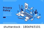 privacy policy isometric... | Shutterstock .eps vector #1806965101