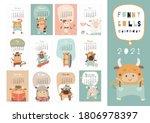 calendar 2021. yearly planner... | Shutterstock .eps vector #1806978397