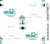 Sea Seamless Pattern For...
