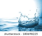 water pours messy jet forming a ... | Shutterstock . vector #180698225