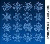 grunge snowflakes | Shutterstock .eps vector #18069988