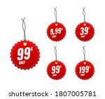 discount tags. template with 99 ... | Shutterstock .eps vector #1807005781