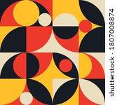 retro geometric seamless... | Shutterstock .eps vector #1807008874