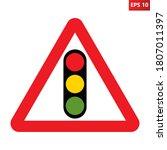 traffic signal light road sign. ...   Shutterstock .eps vector #1807011397