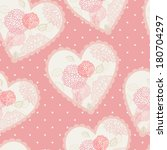 seamless floral hearts | Shutterstock .eps vector #180704297