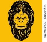 Stock vector bigfoot yeti head illustration 180704621