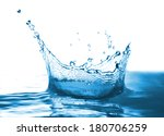 water pours messy jet forming a ... | Shutterstock . vector #180706259