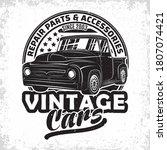 hot rod garage logo design ... | Shutterstock .eps vector #1807074421