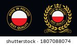 made in poland vector stamp.... | Shutterstock .eps vector #1807088074