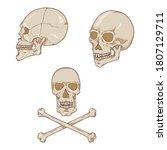vector set of cartoon human...   Shutterstock .eps vector #1807129711