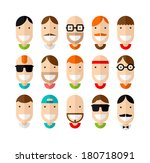 app,avatar,beard,black,businessman,cartoon,character,collection,communication,design,face,fashion,flat,glasses,graphic
