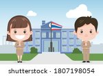 thai teacher wearing mask... | Shutterstock .eps vector #1807198054