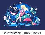 Alice Sitting In Wonderland....