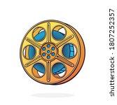 film stock. vintage camera reel.... | Shutterstock .eps vector #1807252357