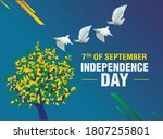 brazil independence day poster... | Shutterstock .eps vector #1807255801
