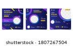collection of social media post ... | Shutterstock .eps vector #1807267504