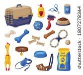 dog accessories set  pet shop... | Shutterstock .eps vector #1807278364