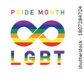 lgbt pride month in june.poster ... | Shutterstock .eps vector #1807284724