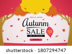 special offer autumn. and sales ... | Shutterstock .eps vector #1807294747