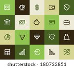 Bank and finance icons. Flat