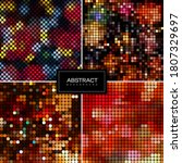 set of holiday sparkling mosaic ... | Shutterstock .eps vector #1807329697