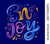 enjoy vector illustration. hand ...   Shutterstock .eps vector #1807336891
