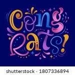 congrats vector illustration....   Shutterstock .eps vector #1807336894