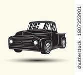 monochrome hot rod pickup icon... | Shutterstock .eps vector #1807353901