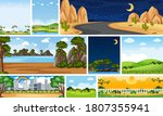 set of different nature place...   Shutterstock .eps vector #1807355941